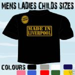 MADE IN LIVERPOOL FUNKY BIRTHDAY T-SHIRT ALL SIZES